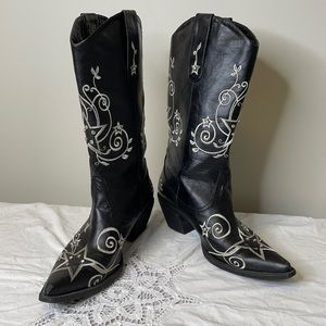 Roper faux leather blinged western cowboy boot 9.5
